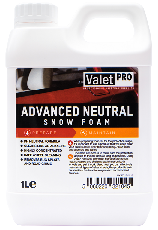 ValetPRO Advanced Neutral Snow Foam -  Pena na umývanie 1L