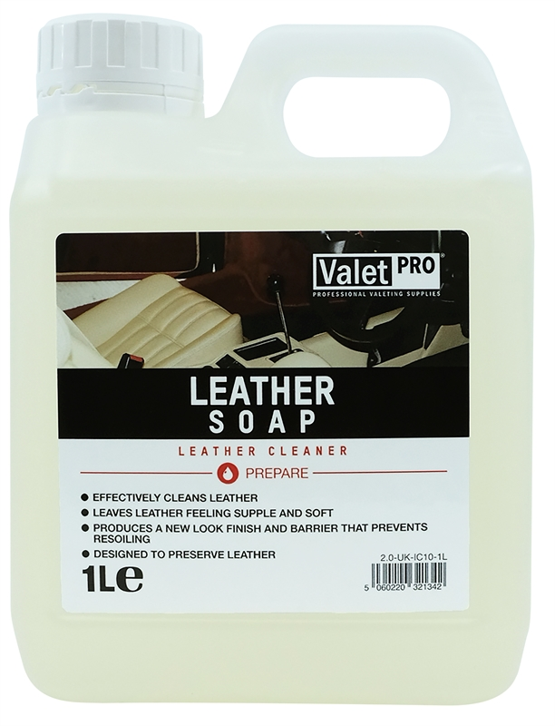 ValetPRO Leather Soap - Šampón na kožu 1L