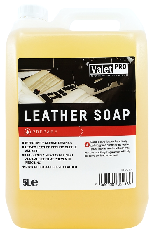 ValetPRO Leather Soap - Šampón na kožu 5L